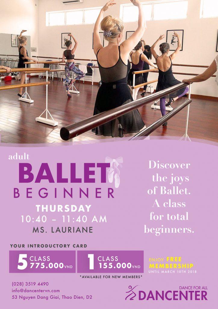 Think, ballet class for adult beginner